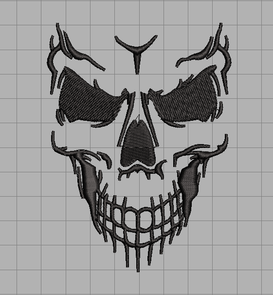 Skeleton Face free embroidery design