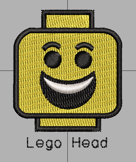 Lego Heads free embroidery designs