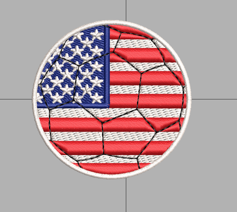 American Flag Football, Soccer Ball free embroidery design