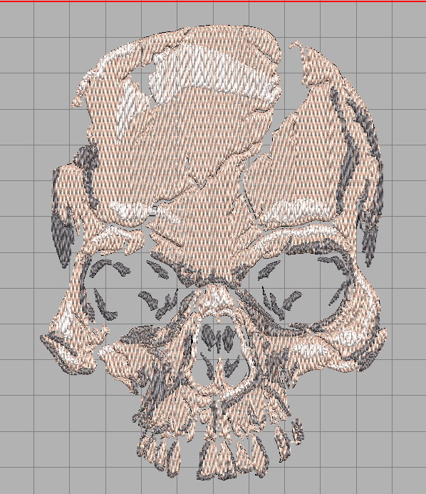Realistic scary skull free embroidery design