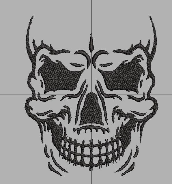 Skull free embroidery design