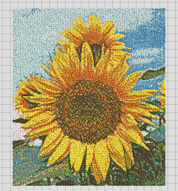 Sunflower Realistic looking free embroidery design