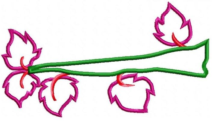 Branch free embroidery design