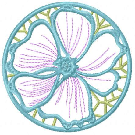 Lace flower free embroidery design