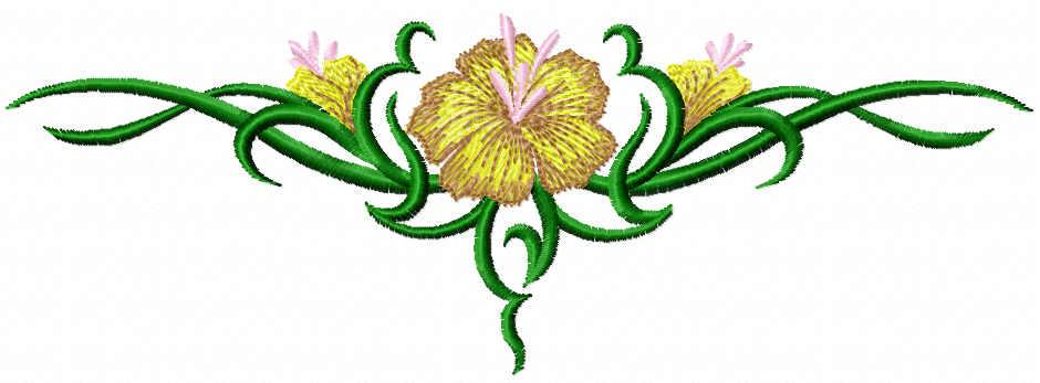Flower tattoo free embroidery design