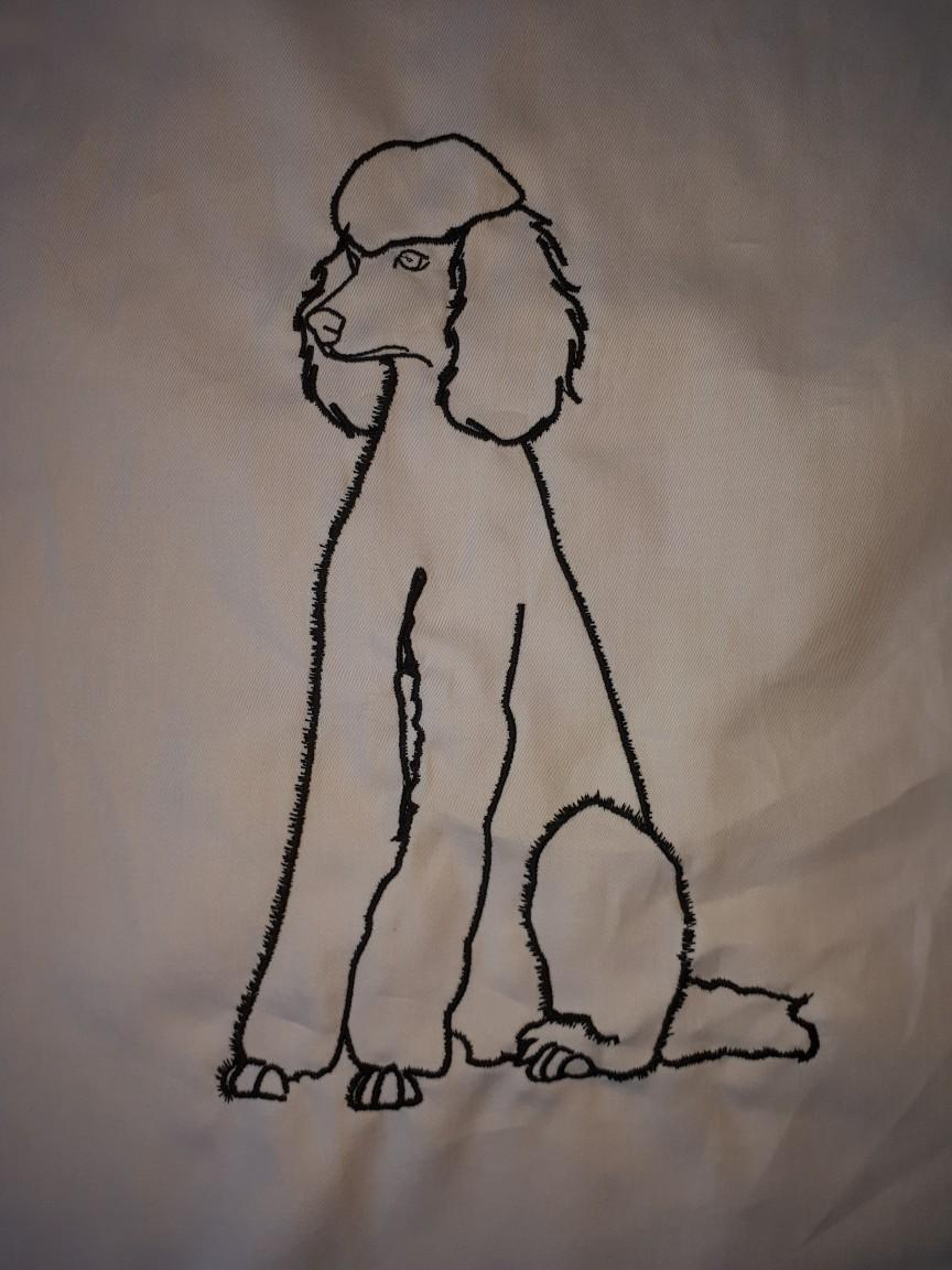 Poodle free embroidery design