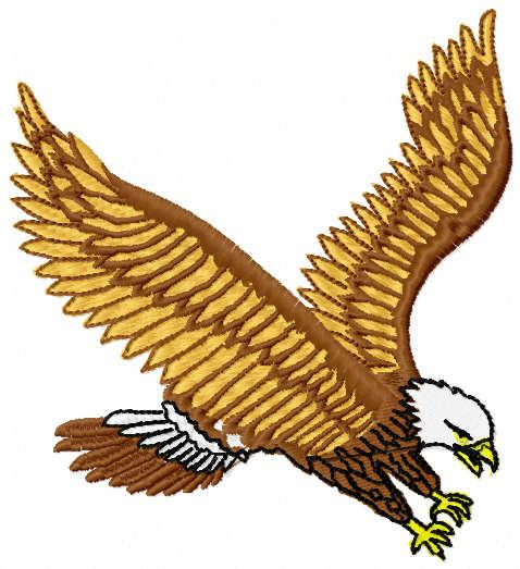 Flying eagle free embroidery design