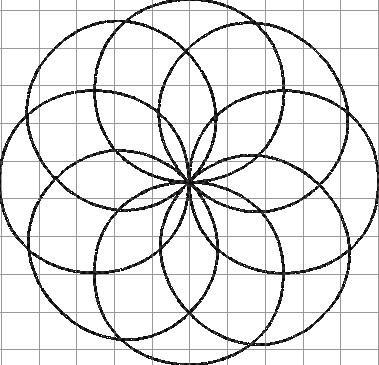 geometrical flower circle