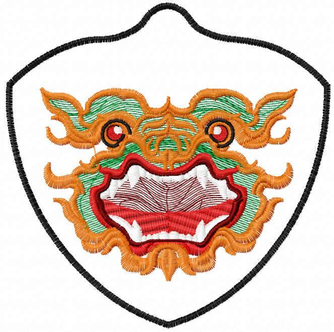 Dragon mask free embroidery design