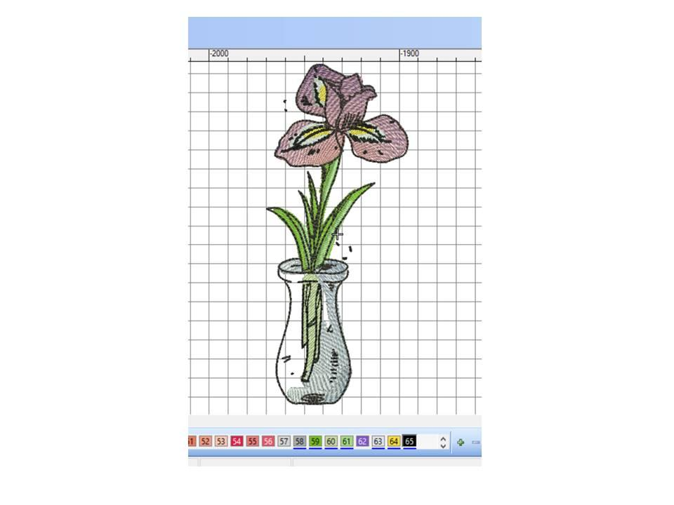 Iris free embroidery design