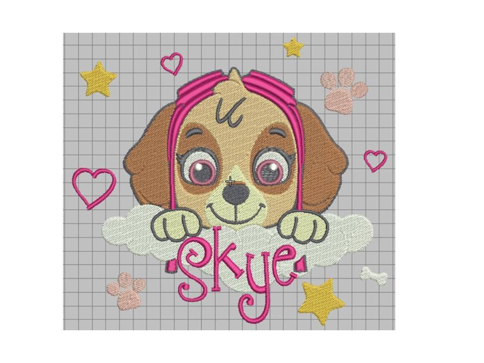 Skye free embroidery design
