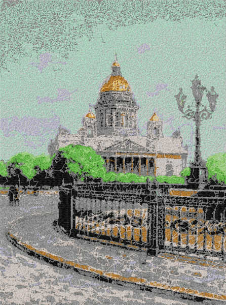 Sankt Petersburg free embroidery design