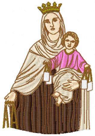 Baby Jesus and Mary free embroidery design