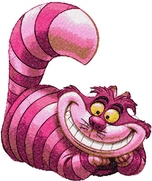 Cheshire cat free embroidery design