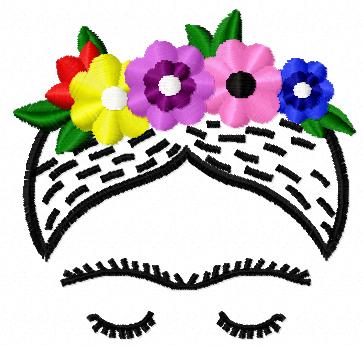 Frida free embroidery design