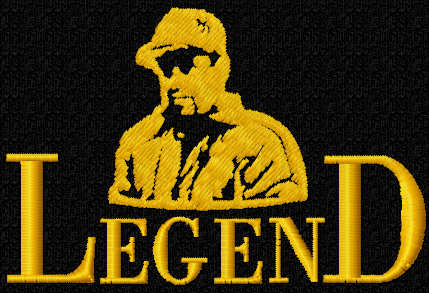 Legend free embroidery design