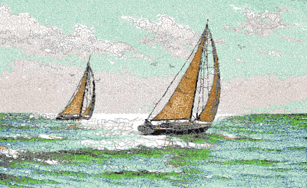 Sail free embroidery design