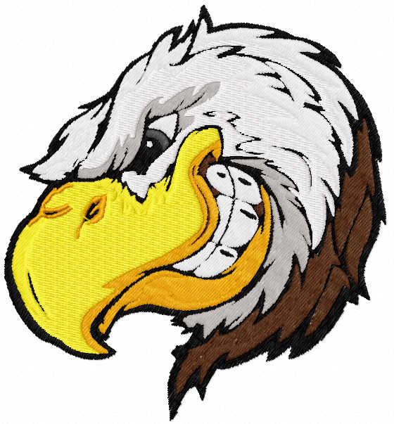 Eagle mascot free embroidery design