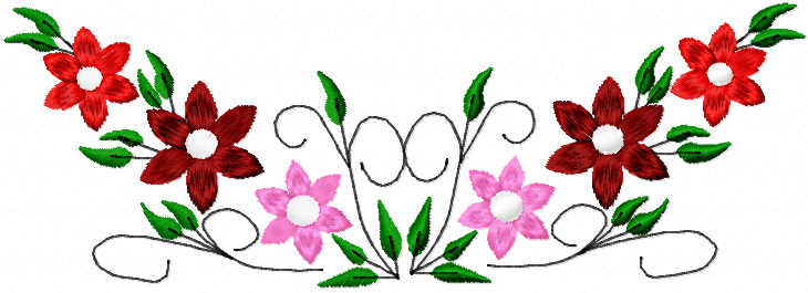 Flowers free embroidery design 102