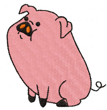 Pig free embroidery design