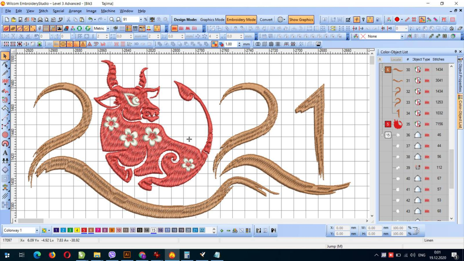 Bull free embroidery design 3