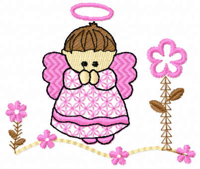 Little cute angel free embroidery design 3