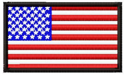 USA flag free embroidery design