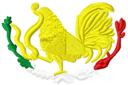 Rooster kill snake free embroidery design