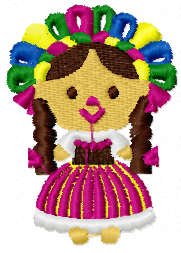 Mexican girl free embroidery design
