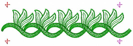 Border decoration free embroidery design