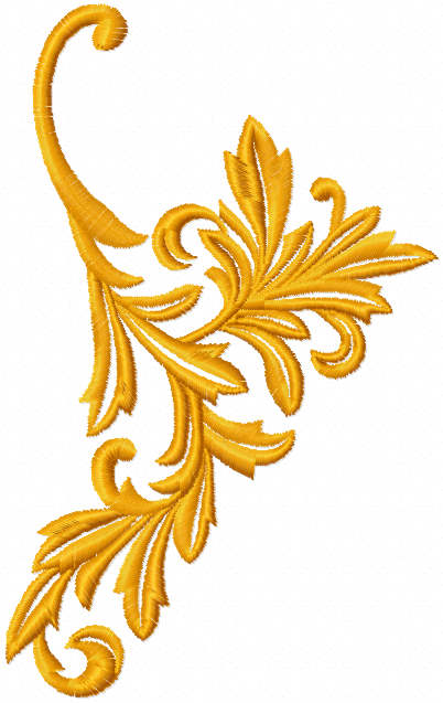 Gold branch free embroidery design