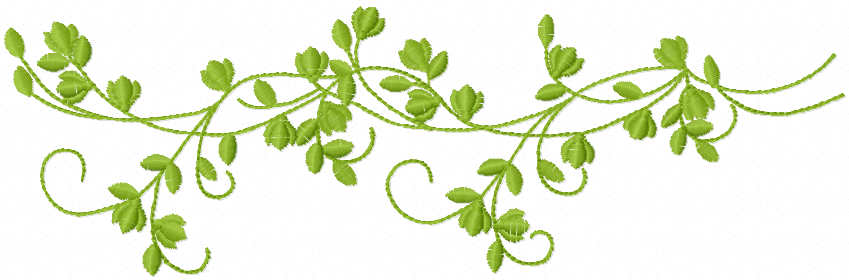 Green branch free embroidery design