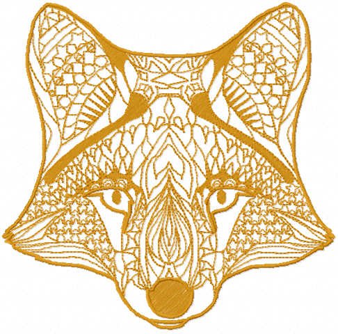 Fox mask free embroidery design