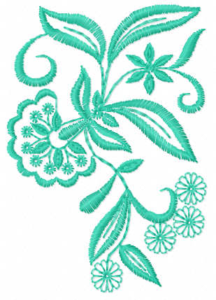 Blue flower free embroidery design