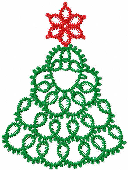Christmas tree fsl free embroidery design