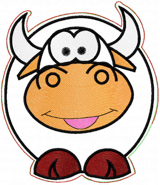 Cow potholder free embroidery design