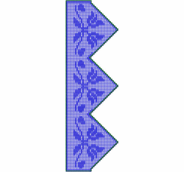 Fillet lace lily free embroidery design 2