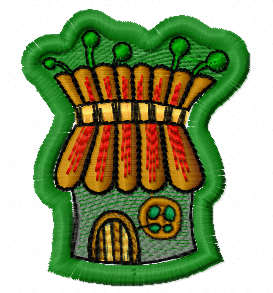 Gnome house free embroidery design 1