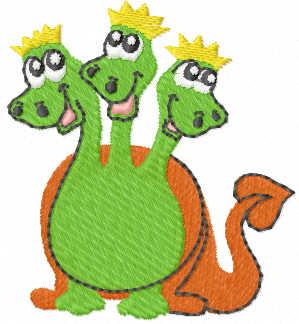 Green dragon free embroidery design