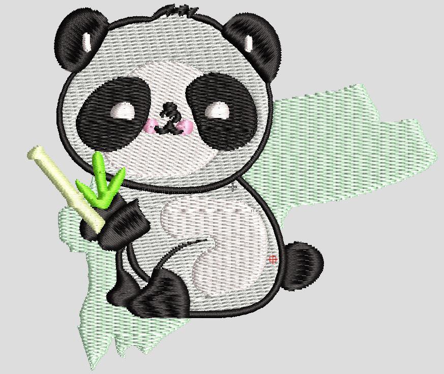 Panda free embroidery design