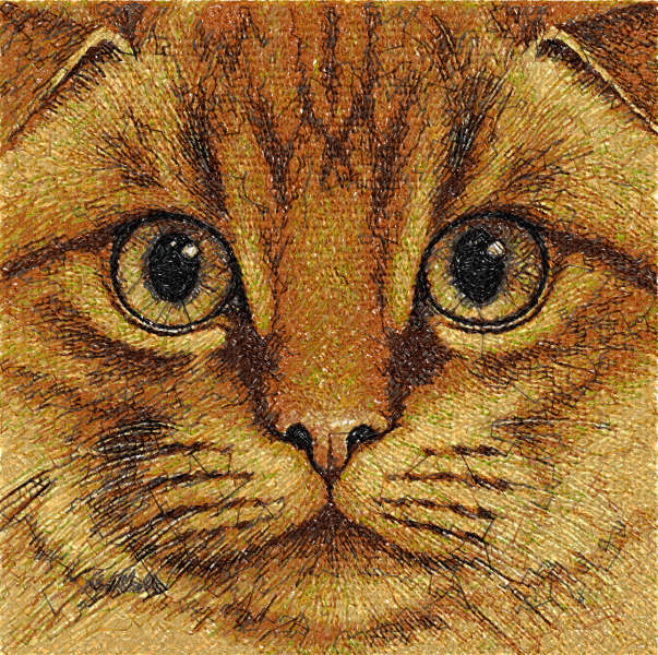 Red cat free embroidery design