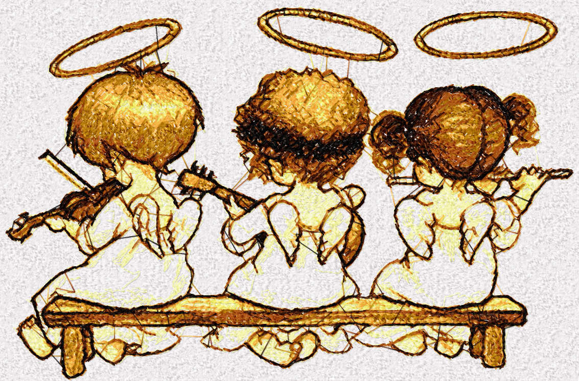 Angels free embroidery design