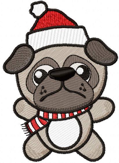 Christmas dog free embroidery design