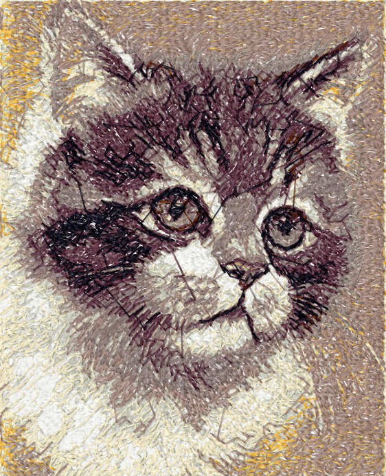 Kitten free embroidery design