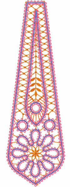 Napkin decor element free embroidery design 1