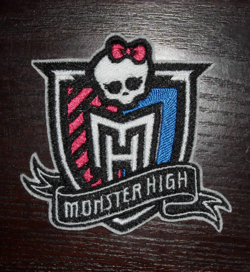 Monster high logo embroidery badge