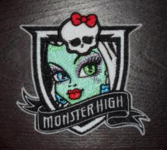 Embroidery badge with Monster high