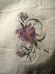 Swirl lily embroidery design