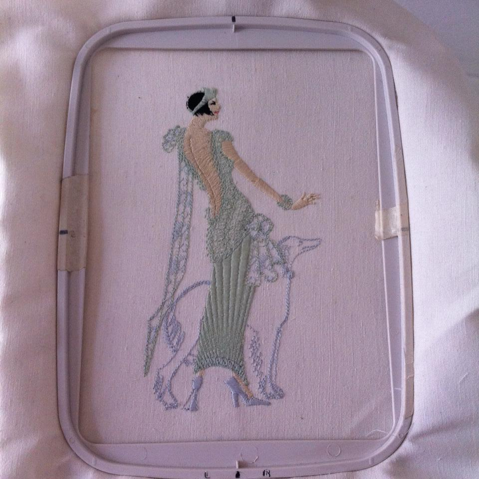 In hoop Lady And Dog free embroidery design