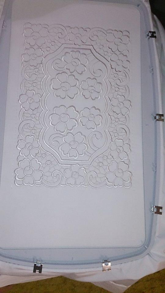 In hoop Embroidered Lace napkin free design